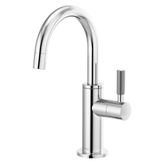 Beverage Faucet With Arc Spout And Knurled Handle