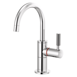 Instant Hot Faucet With Arc Spout And Knurled Handle
