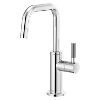 Beverage Faucet With Square Spout And Knurled Handle