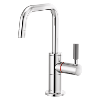 Instant Hot Faucet With Square Spout And Knurled Handle