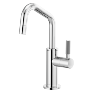 Beverage Faucet With Angled Spout And Knurled Handle