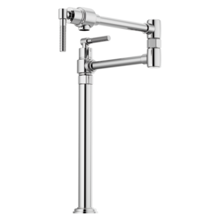 Litze Deck Mount Pot Filler With Knurled Handle