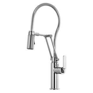 Articulating Faucet With Finished Hose