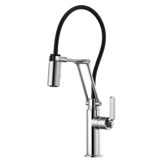 Articulating Faucet With Industrial Handle