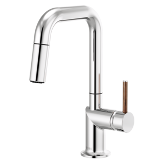 Pull-down Prep Faucet With Square Spout - Less Handle