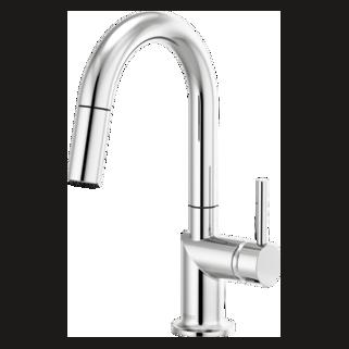 Pull-down Prep Faucet With Arc Spout - Less Handle