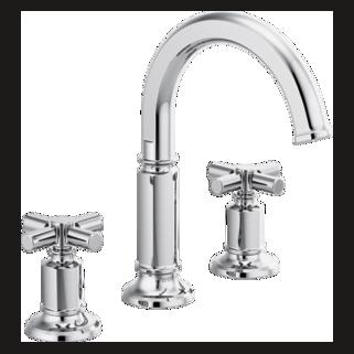 Widespread Lavatory Faucet With Arc Spout - Less Handles
