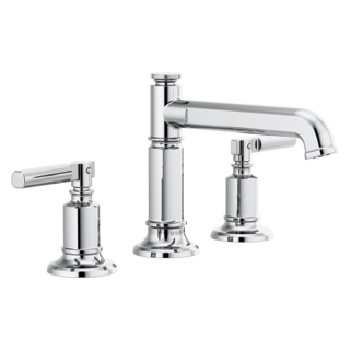 Widespread Lavatory Faucet With Column Spout - Less Handles