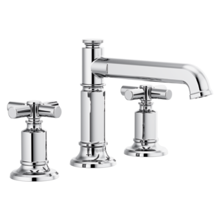 Widespread Lavatory Faucet With Column Spout - Less Handles