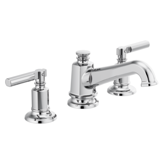 Widespread Lavatory Faucet With Angled Spout - Less Handles