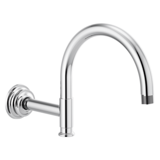 """12 1/8"""" Arc Shower Arm And Flange"""