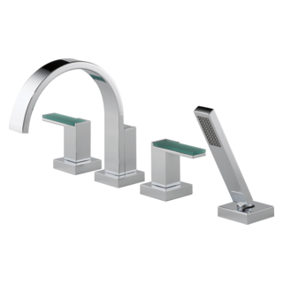 Roman Tub Trim With Hand Shower - Less Handles