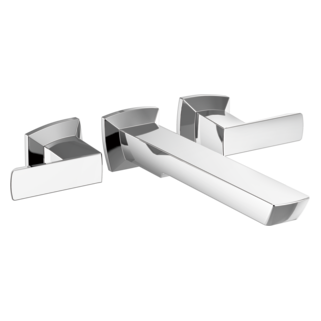 Two-handle Wall Mount Tub Filler